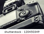 closeup view of digital camera | Shutterstock . vector #120450349