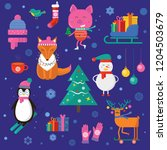 merry christmas greeting card... | Shutterstock .eps vector #1204503679