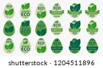 set of labels as a chicken egg. ... | Shutterstock .eps vector #1204511896
