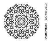 flower mandala. vintage... | Shutterstock .eps vector #1204512010