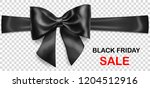 black bow with horizontal... | Shutterstock .eps vector #1204512916