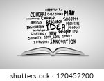 open white book and business... | Shutterstock . vector #120452200