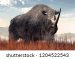 a shaggy beast emerges from the ...   Shutterstock . vector #1204522543