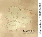 andorra on the map of balkans... | Shutterstock .eps vector #1204524880