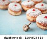jewish holiday hanukkah concept ... | Shutterstock . vector #1204525513