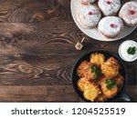 jewish holiday hanukkah concept ... | Shutterstock . vector #1204525519