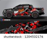 truck wrap design vector.... | Shutterstock .eps vector #1204532176