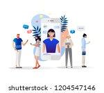 vector illustration  customer... | Shutterstock .eps vector #1204547146