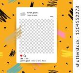 trendy editable template for... | Shutterstock .eps vector #1204552273