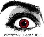close up scared face of... | Shutterstock .eps vector #1204552813