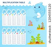 vector multiplication table and ... | Shutterstock .eps vector #1204555120