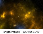 space   a starry space with a...   Shutterstock . vector #1204557649