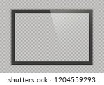 empty tv black frame with... | Shutterstock .eps vector #1204559293