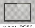 empty tv black frame with... | Shutterstock .eps vector #1204559293