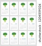 funny leafy calendar 2019 year... | Shutterstock .eps vector #1204559326