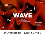 3d poster with wave stripes....   Shutterstock .eps vector #1204567453