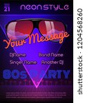 a4 neon style party flyer... | Shutterstock .eps vector #1204568260