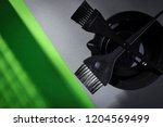 hairdresser stylist tools on a...   Shutterstock . vector #1204569499