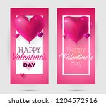 happy valentine's day leaflets... | Shutterstock .eps vector #1204572916