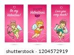 3 templates for leaflets on... | Shutterstock .eps vector #1204572919