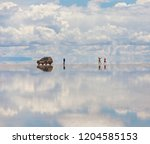 panorama of the unique lake...   Shutterstock . vector #1204585153