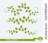 isolated floral elements   set... | Shutterstock .eps vector #1204585660