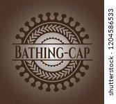 bathing cap wood emblem   Shutterstock .eps vector #1204586533