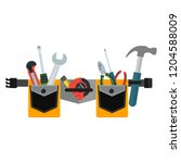 belt with tools. conceptual... | Shutterstock .eps vector #1204588009