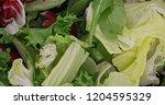 fresh green and red lettuce... | Shutterstock . vector #1204595329
