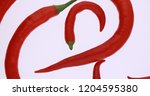 red hot chili peppers isolated... | Shutterstock . vector #1204595380