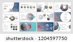 presentation template. gradient ... | Shutterstock .eps vector #1204597750