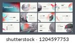 presentation template. gradient ... | Shutterstock .eps vector #1204597753