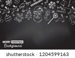 seamless pattern with xmas... | Shutterstock .eps vector #1204599163