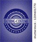 bathing costume emblem with...   Shutterstock .eps vector #1204601770