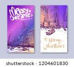trendy cover template. winter... | Shutterstock .eps vector #1204601830