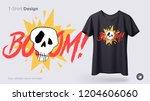 funny skeleton illustration.... | Shutterstock .eps vector #1204606060