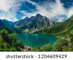 view on the turquoise color... | Shutterstock . vector #1204609429