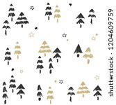 christmas patten set and vector ... | Shutterstock .eps vector #1204609759