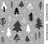 seamless pattern with christmas ... | Shutterstock .eps vector #1204610236