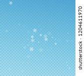 sparse snowfall christmas... | Shutterstock .eps vector #1204611970
