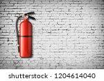 fire extinguisher on white... | Shutterstock . vector #1204614040