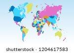 color world map vector | Shutterstock .eps vector #1204617583