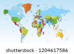 color world map vector | Shutterstock .eps vector #1204617586