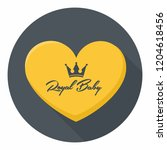 vector royal icon yellow heart...   Shutterstock .eps vector #1204618456