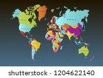 color world map vector | Shutterstock .eps vector #1204622140