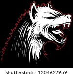 vector hyena head with a... | Shutterstock .eps vector #1204622959