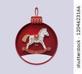 3d render  christmas holiday... | Shutterstock . vector #1204623166