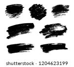 set of black grunge brushes as... | Shutterstock . vector #1204623199