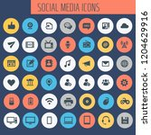 big social media icon set ...
