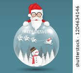 merry christmas and happy new... | Shutterstock .eps vector #1204634146